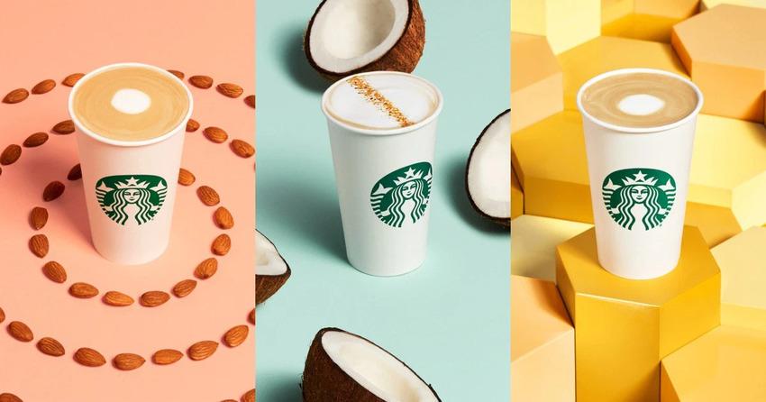 Bộ ba thức uống sử dụng hương sữa thực vật của Starbucks