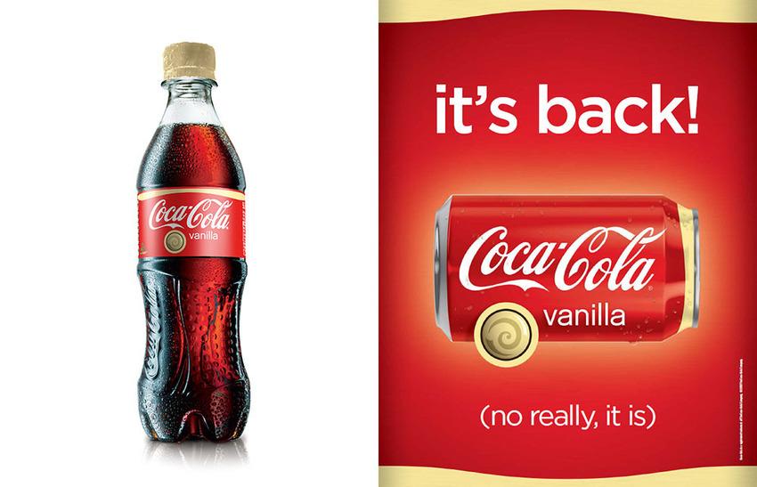 Coca-Cola hương vanilla đã được bán ở Mỹ vào năm 2002 và ở Anh vào năm 2003