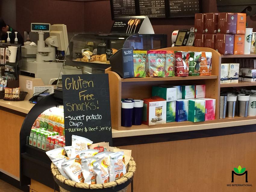 Các loại bánh ngọt được bán tại Starbuck đều không chứa gluten