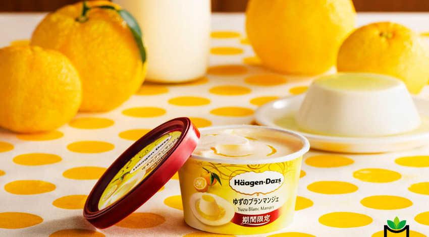 Häagen-Dazs là một trong những thương hiệu tiên phong đưa hương vị thanh yên Nhật vào công thức sản phẩm