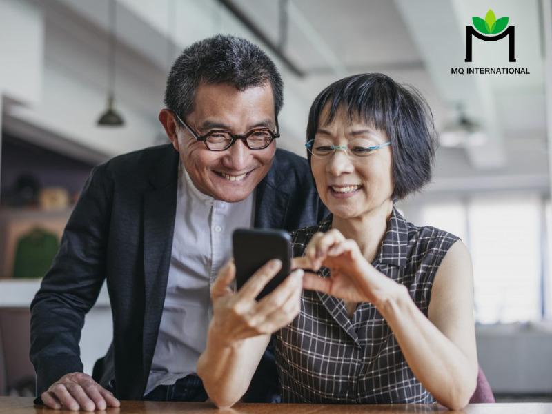 Người lớn tuổi tại Trung Quốc đã quen sử dụng các ứng dụng đặt món trực tuyến