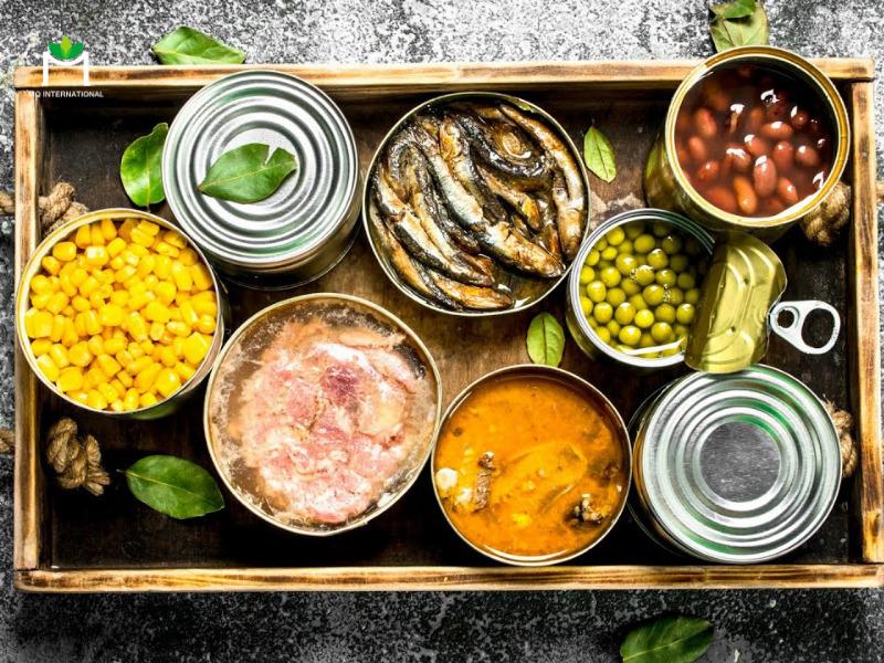 Thực phẩm đóng hộp thường chứa chất bảo quản nhân tạo