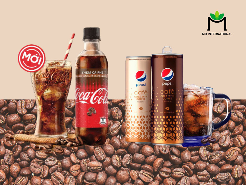 Hương cafe đều được Coca Cola và Pepsi thử nghiệm trên nhiều sản phẩm