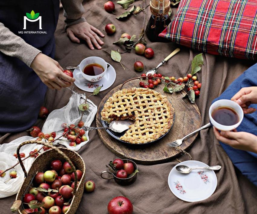 Bánh táo gợi nhắc đến hương vị và không khí những bữa tiệc mùa hè