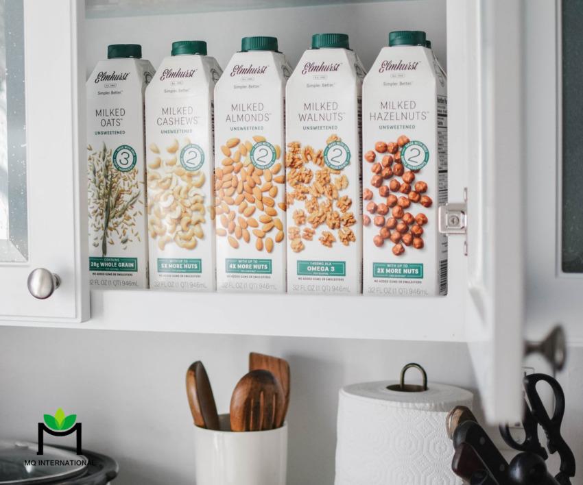 Sữa thực vật dễ bảo quản và có hạn sử dụng dài