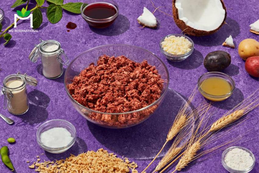 Thịt thực vật được làm từ protein đậu, dầu hạt cải và các hương liệu khác