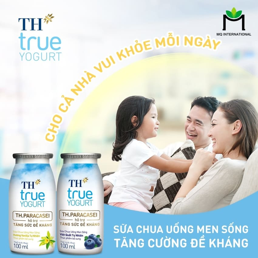 Sữa chua uống với sữa bột được ưa chuộng để tăng cường hệ miễn dịch